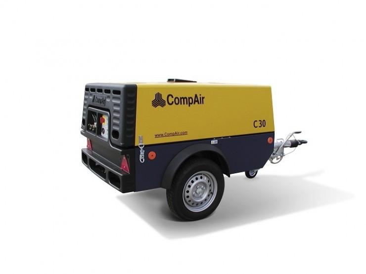 Pojazdný vzduchový kompresor bez príslušenstva CompAir C30