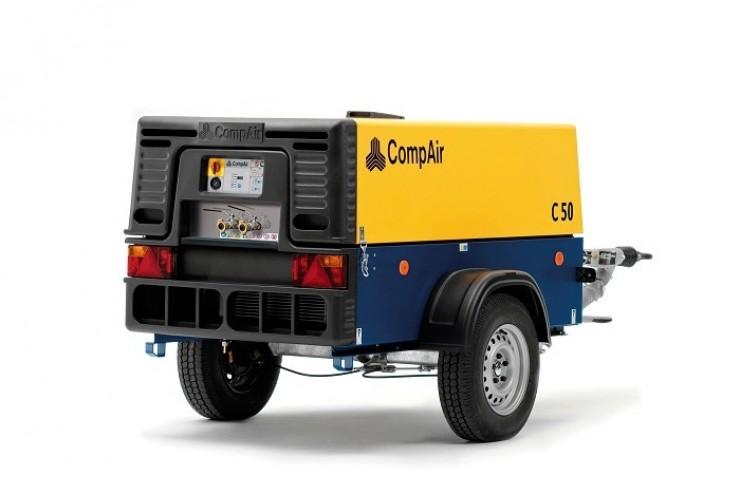 Pojazdný vzduchový kompresor bez príslušenstva CompAir C50